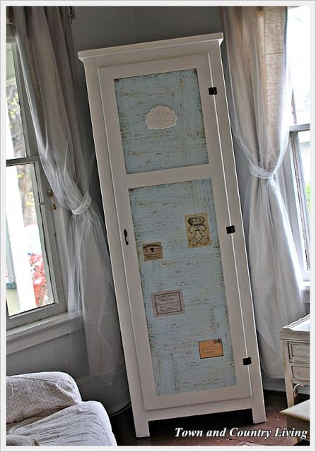 Skinny Armoire Makeover - Town & Country Living