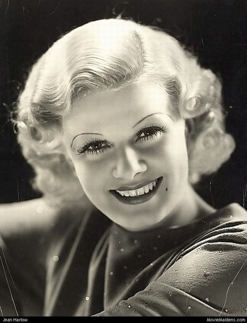 Jean Harlow refused to wear a bra...At first they wanted her to, then decided she was sexier without it, because the men would dream about touching her breast, so she got to go without it...