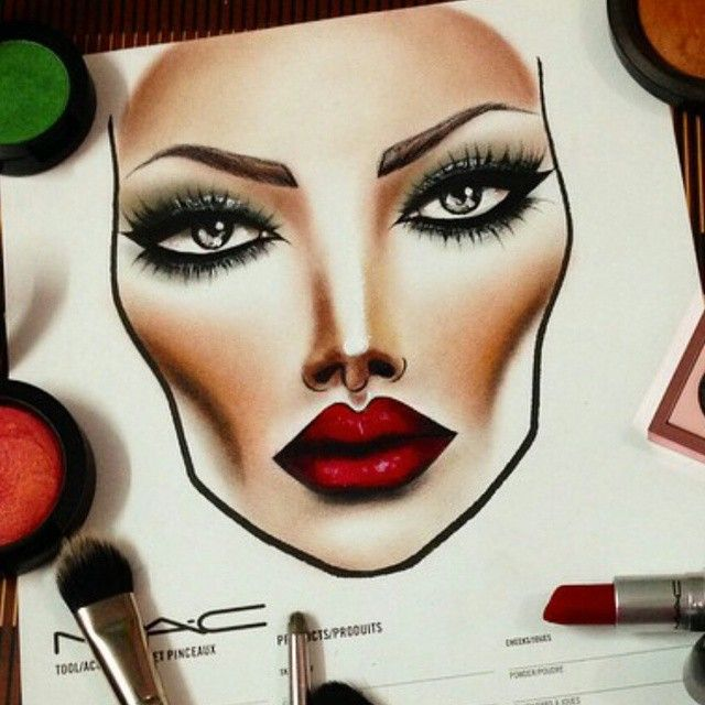 361 best face chart images on pinterest make up looks