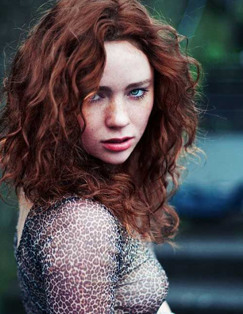 15 Beautiful Hairstyle Pics for Curly Hair: #1. Hairstyle for Curly Red Hair