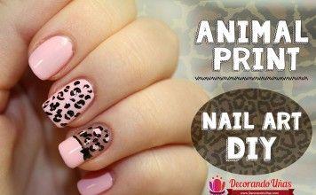 Animal print – Nail art DIY  – Tutorial paso a paso