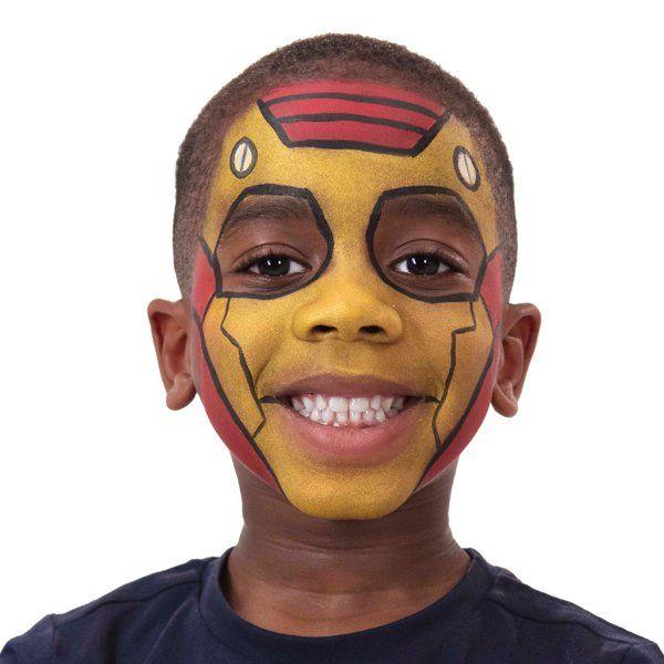Iron Man Face Paint | Disney | Snazaroo | facepainting ...