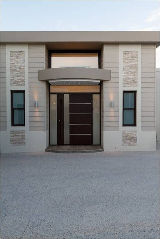 New Swartland External entrance pivot door to match our internal door design. Make a contemporary entrance warm and inviting using timber.