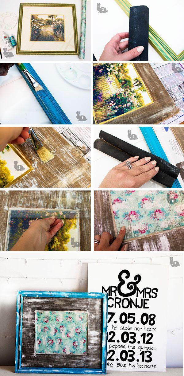 DIY Dry Erase board from a thrift store photoframe