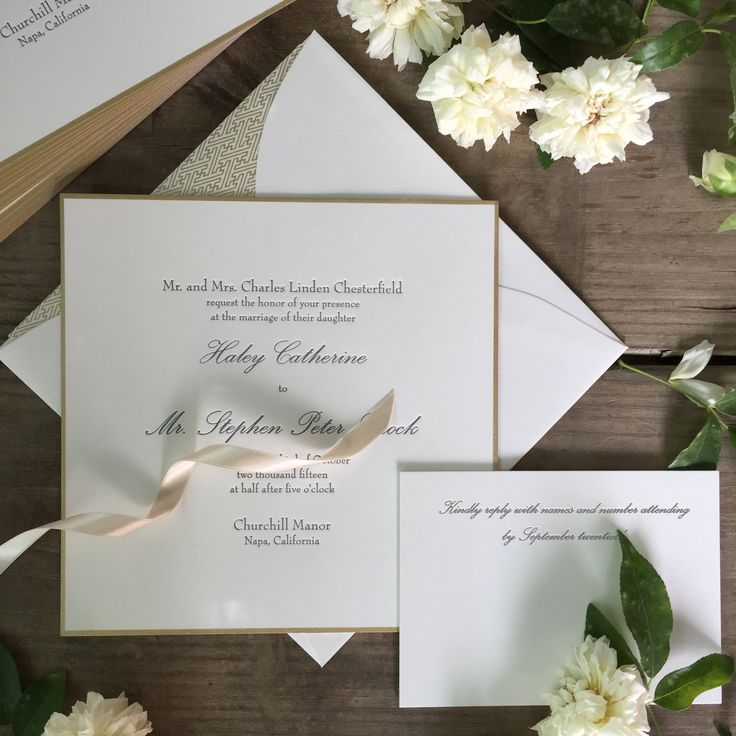 Design Your Own Gold Bordered Letterpress Wedding Invitations Online Using  Bellu0027INVITOu0027s Easy To