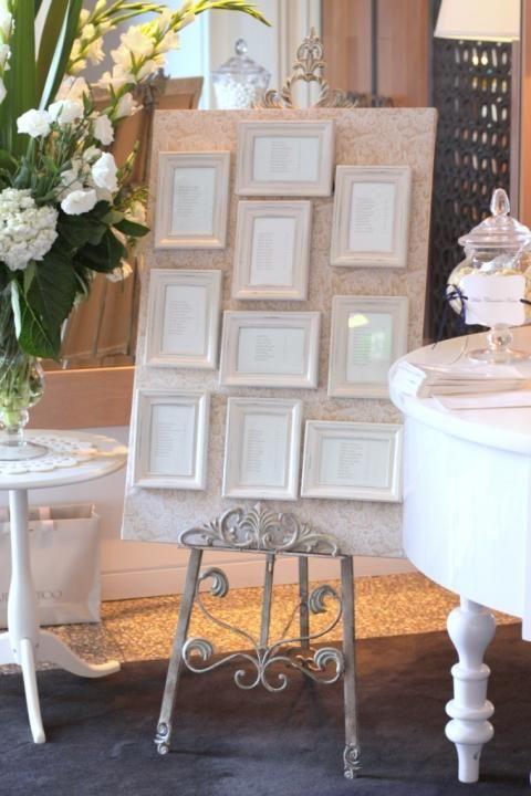 DIY Frame Seating Chart / Wedding Style Inspiration / LANE