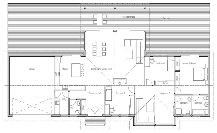modern-farmhouses_10_home_plan_ch295.png *like layout and flow with bedrooms on one end.