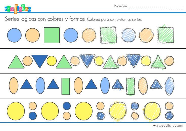 ficha de series logicas  #logica #fichas #infantil