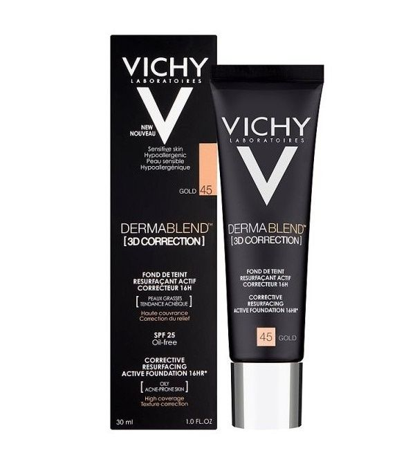 Vichy Dermablend 3d Correction Puder Skin Cleanser Products Dermablend Vichy