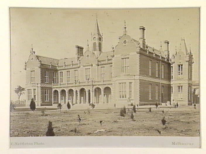 Alfred Hospital, Melbourne, c. 1870s. Photographer Charles Nettleton