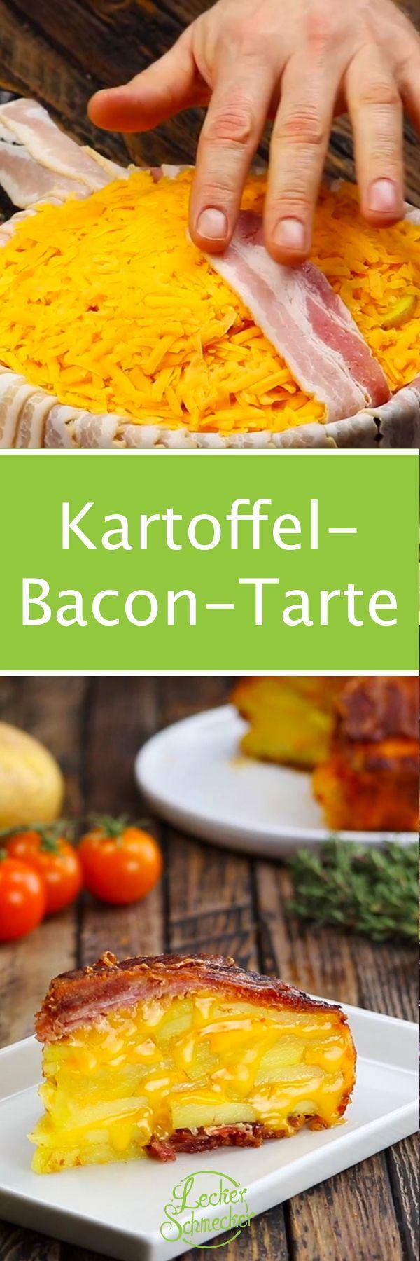 Kartoffel-Bacon-Tarte im Knuspermantel.