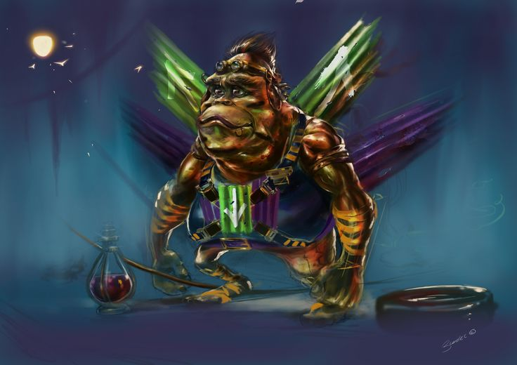 Frog Man Digital Painting South africa Character Development Concept Art