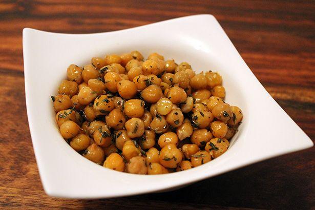 Clean Eating Snack: Geröstete Kichererbsen