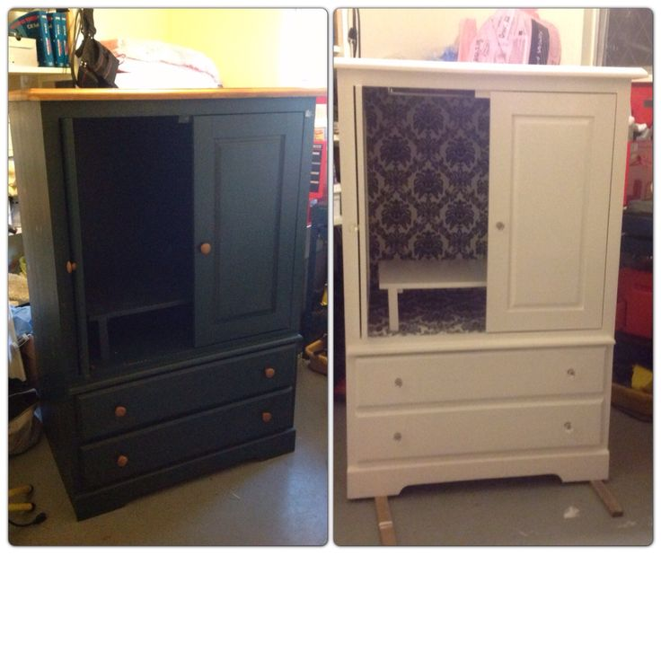 Old Entertainment Centre Repurposed Into A Little Girls Wardrobe