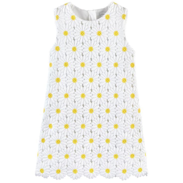Fodera sintetica Pinafore dress Colletto tondo Senza maniche. Cerniera sulla schiena. Trina a fiori - 595,00 €