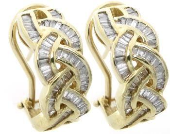 1.50ct Diamond Gold Earrings