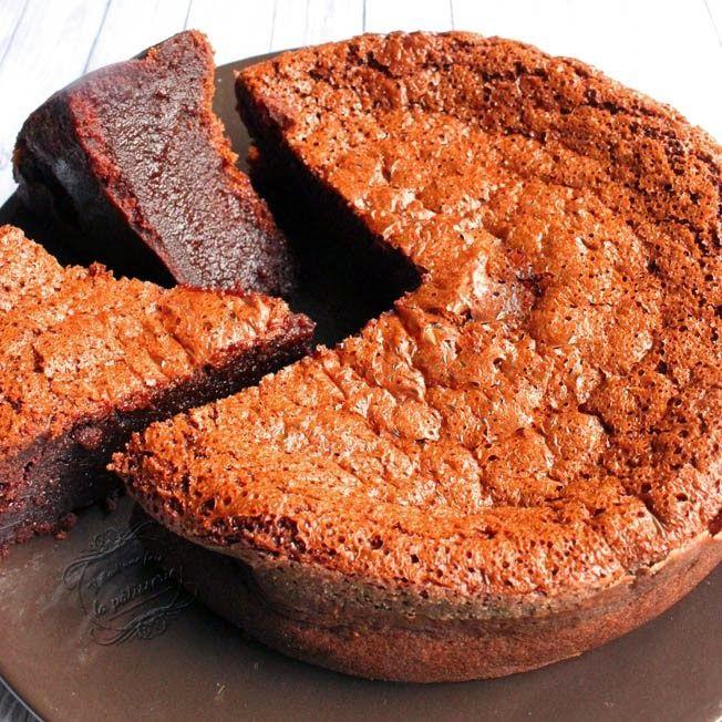 Gâteau chocolat et caramel