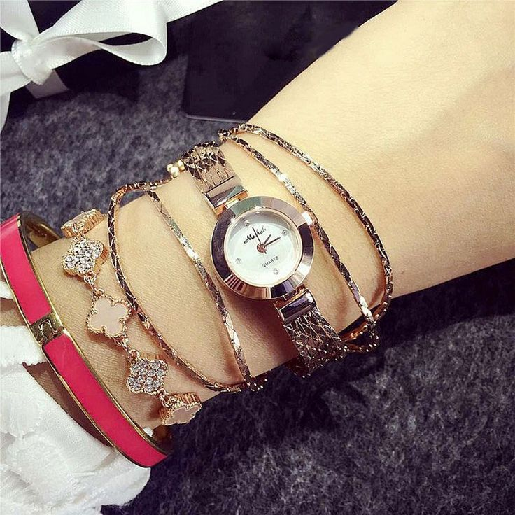 Fashion Brand Elegant Fashion Tassels Women Quartz Wristwatch Luxury Rose Gold Women's Bracelet Watch Ladies Watch Montre Femme