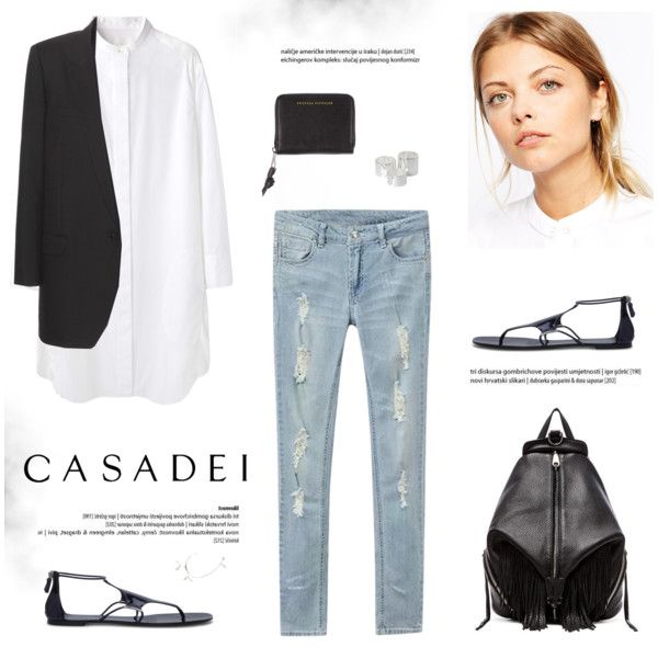 A fashion look from February 2015 featuring Tsumori Chisato dresses, Yves Saint Laurent blazers and Rebecca Minkoff backpacks. Browse and shop related looks.