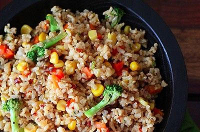 The Daniel Fast - stir fry vegetables with brown rice  {clean eating}