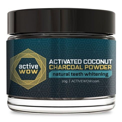 Active Wow Activated Coconut Charcoal Powder Natural Teeth Whitening – 20g