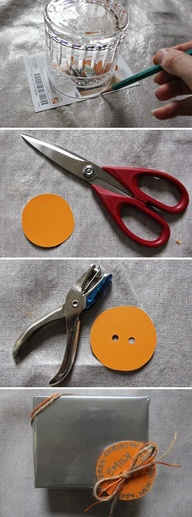 Holiday tip: Make a gift tag out of a paint chip!