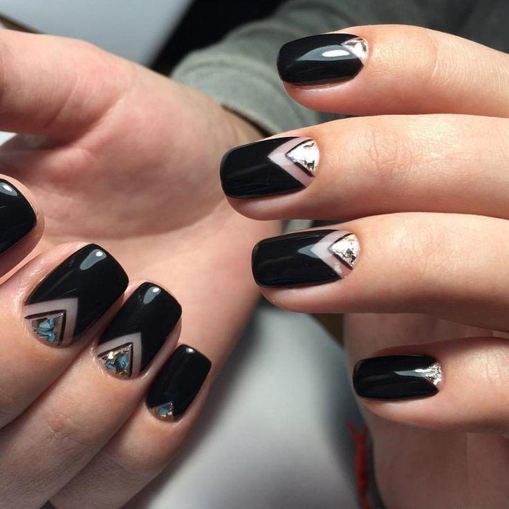 Ногти фото в черном цвете