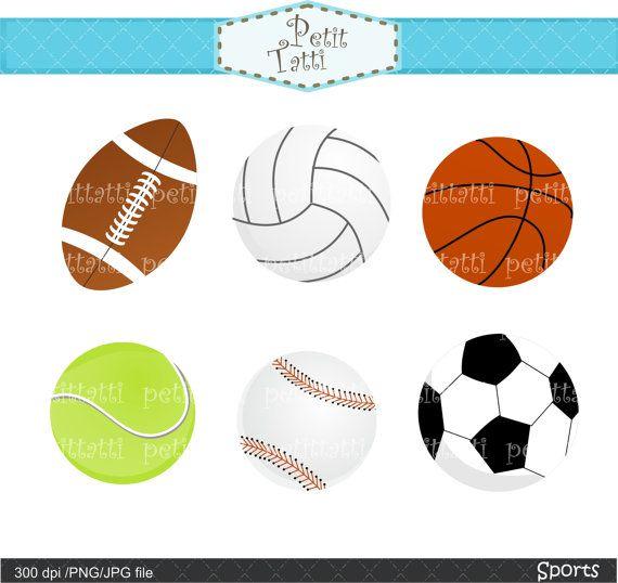 sports clip art baseball clip art soccer ball clip by petittatti, $3.00