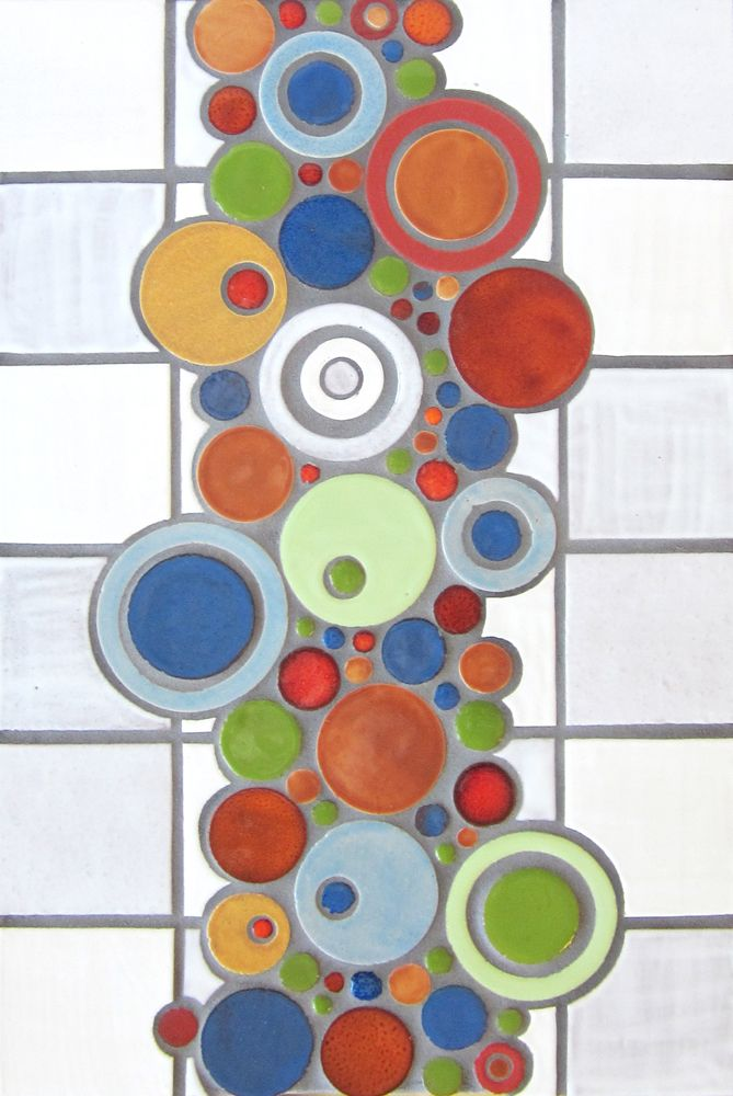 Organic Edge & Bubble-Pierced - Mercury Mosaics