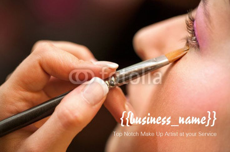 Make Up Artist business card (back) designed by me at Nic's Designs