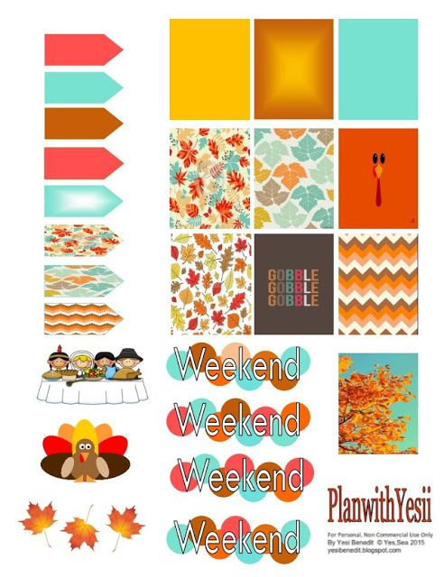 FREE Yesi & Life: #PlannerAddict; Friday Freebie: Autumn/Fall planner Printable.