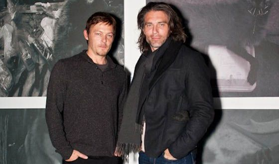 Photo of Norman Reedus & his friend actor  Anson Mount - United States