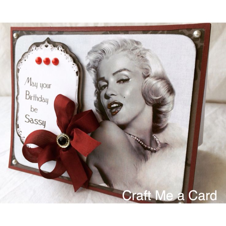 Happy Birthday Card Marilyn Monroe