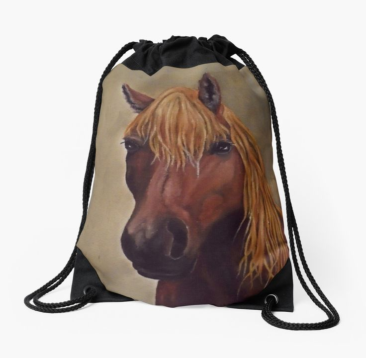 Drawstring Bag,  brown,beautiful,fancy,unique,trendy,artistic,awesome,fahionable,unusual,accessories,for sale,design,items,products,gifts,presents,ideas,horse,equine,wild,animal,redbubble