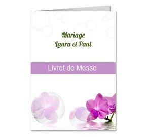 livret de messe mariage hibiscus