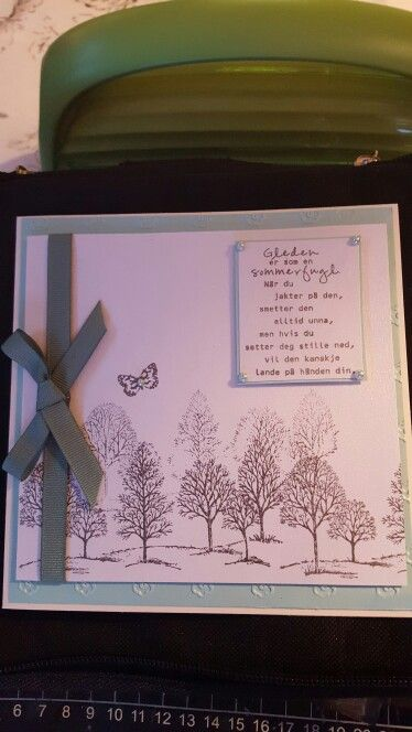 A card i make of the stamp set from stampin up ☺