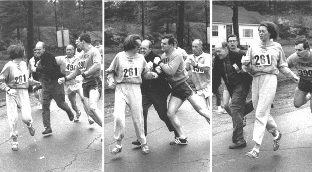 When I go to the Boston Marathon now, I have wet shoulders....women fall into my arms crying. They're weeping for joy, because running has changed their lives. They feel they can do anything. ~ Katherine Switzer