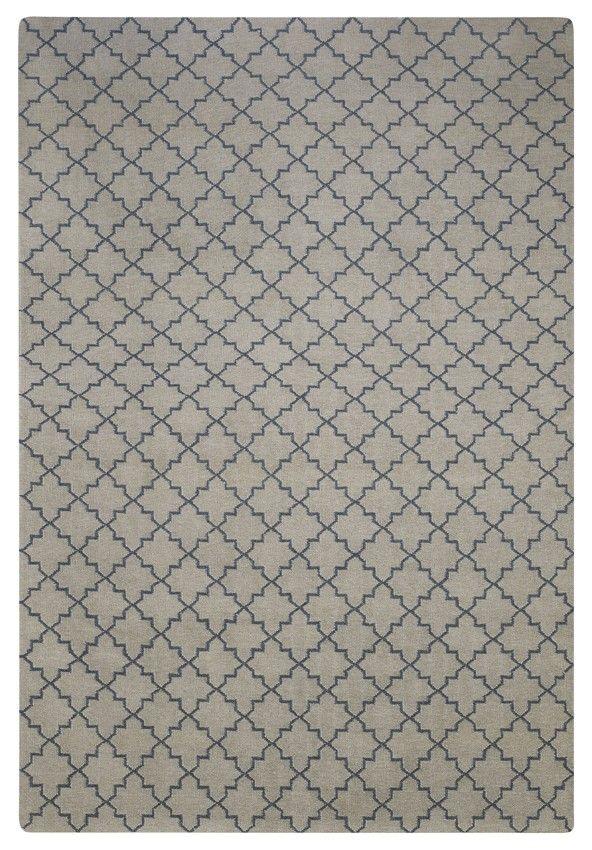 Dhurry Wool New Geometric - Light Grey/Grey 180 x 272