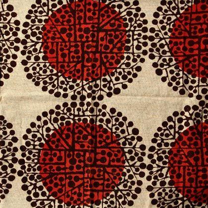 Fabric design (1964-66) by Finnish textile designer Juhani Konttinen | via Marissa Ramirez on tumblr