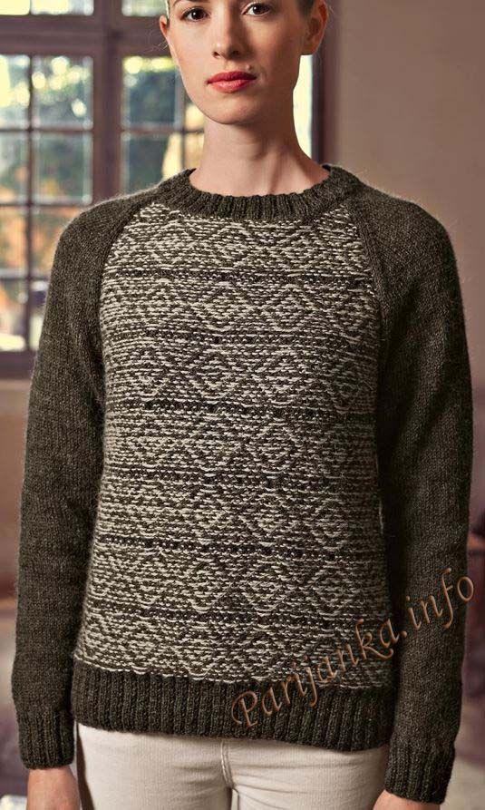 Пуловер с жаккардом (ж) 153 Creations 15/16 Bergere de France №4676