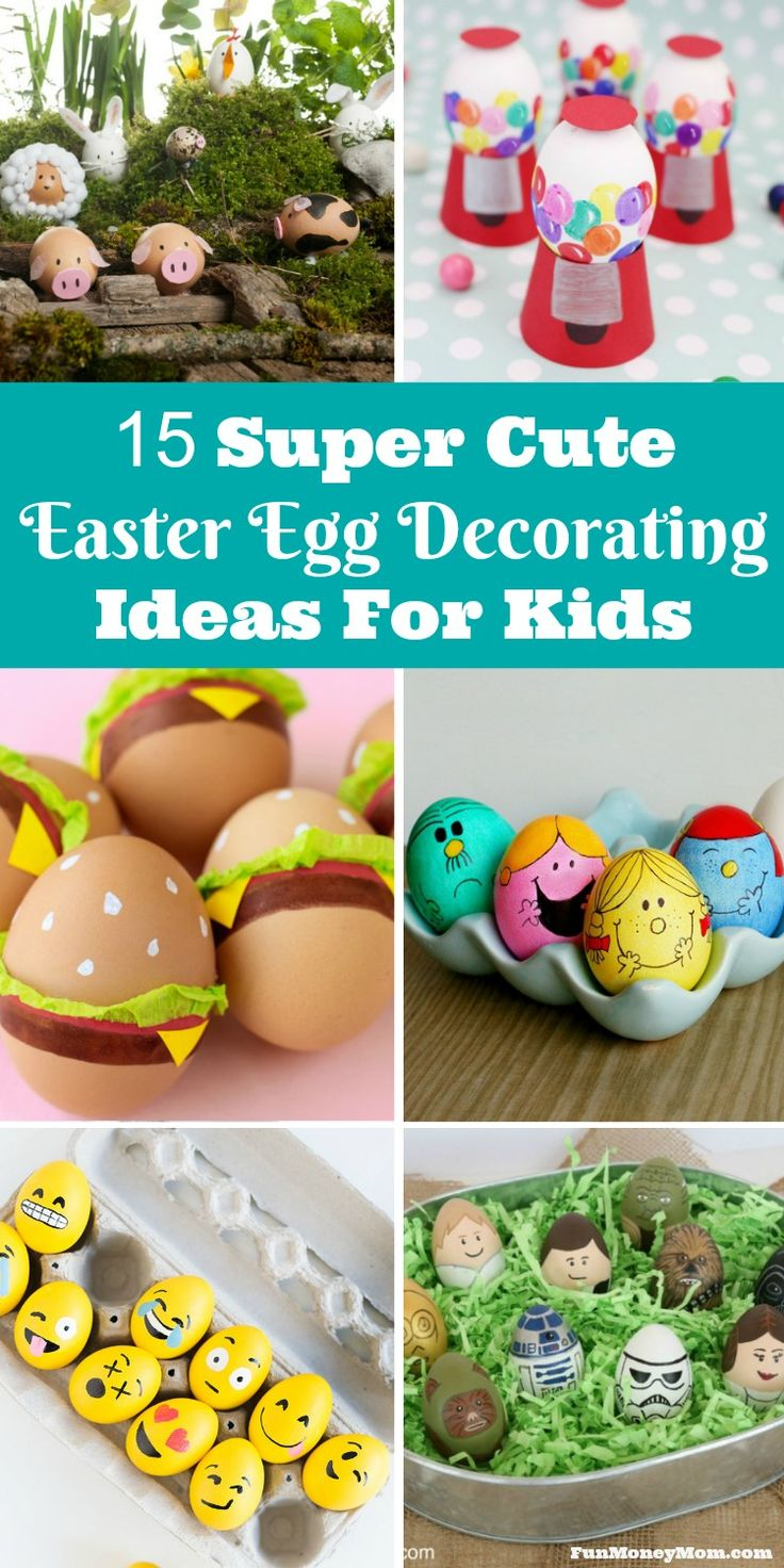 What do you love most about Easter? If you say the Easter eggs, you're going to love these adorable Easter egg decorating ideas!