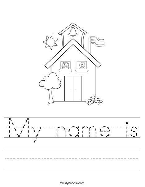 My name is coloring worksheet