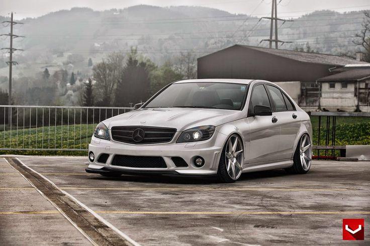 Mercedes-Benz W204 on Vossen CV7 Wheels   BENZTUNING   Performance and Style