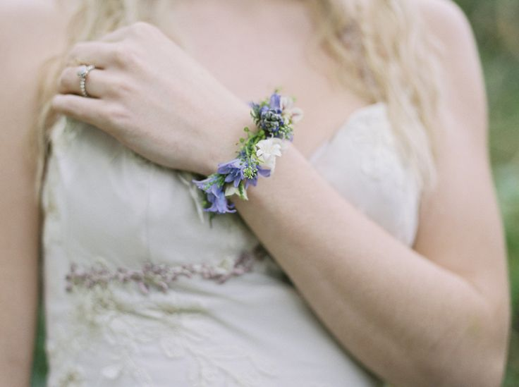 Beautiful example of a floral wedding wrist corsage - they don't have to be tacky and suitable for prom! Theresa Furey Fine Art Wedding Photography