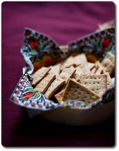 Cracker con la farina di segale