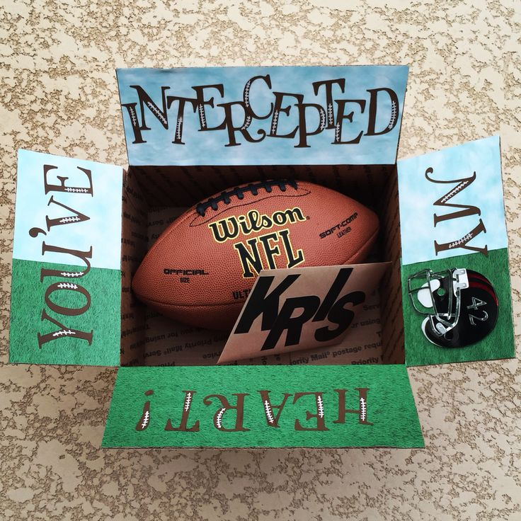 Football care package for your deployed soldier. Made by Emily Sexton