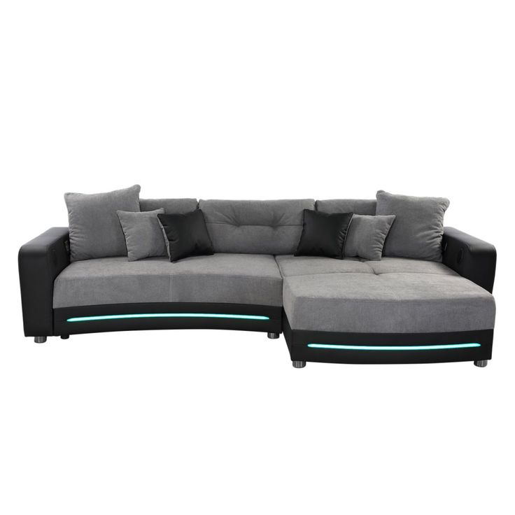Ecksofa grau  Die besten 25+ Microfaser couch Ideen auf Pinterest | Wohnzimmer ...
