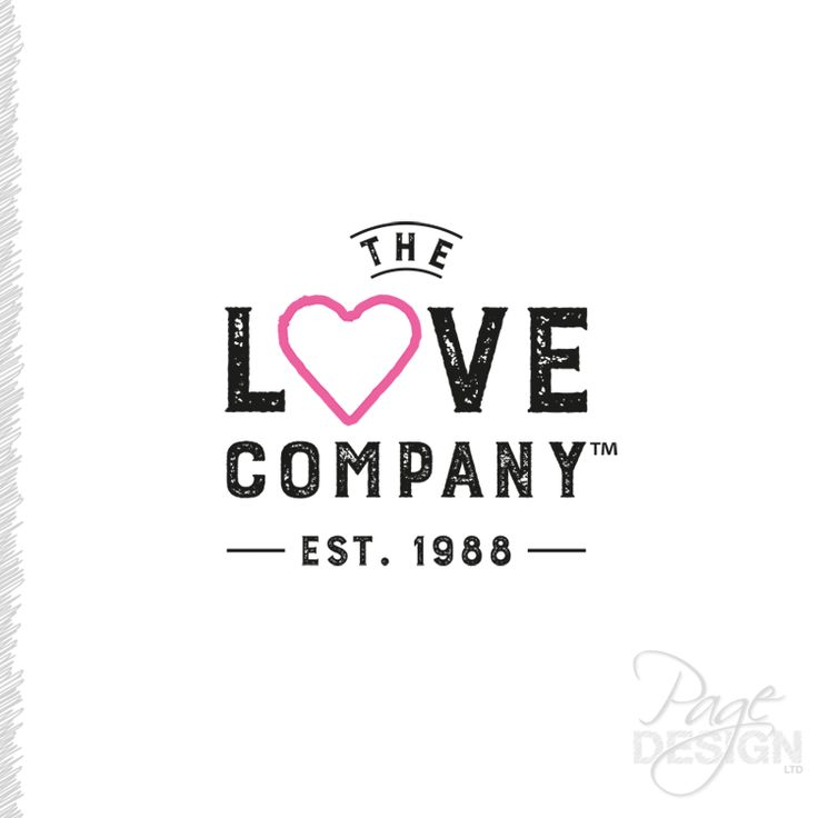 Logo design for The Love Company, NZ (TLC)