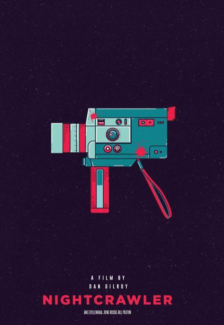 Nightcrawler (2014) ~ Minimal Movie Poster by Viraj Nemlekar #amusementphile