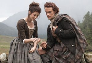 Caitriona Balfe and Sam Heughan as Claire and Jamie, from the OUTLANDER TV series!